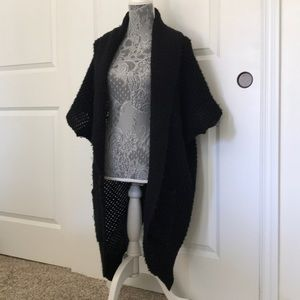 Blk Forever 21 Oversize Slouchy Knit Sweater Coat